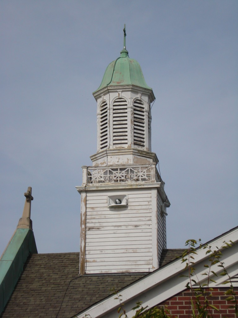 Steeple before renovation